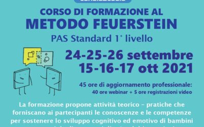 Corso di formazione al metodo Feuerstein – PAS standard 1° livello